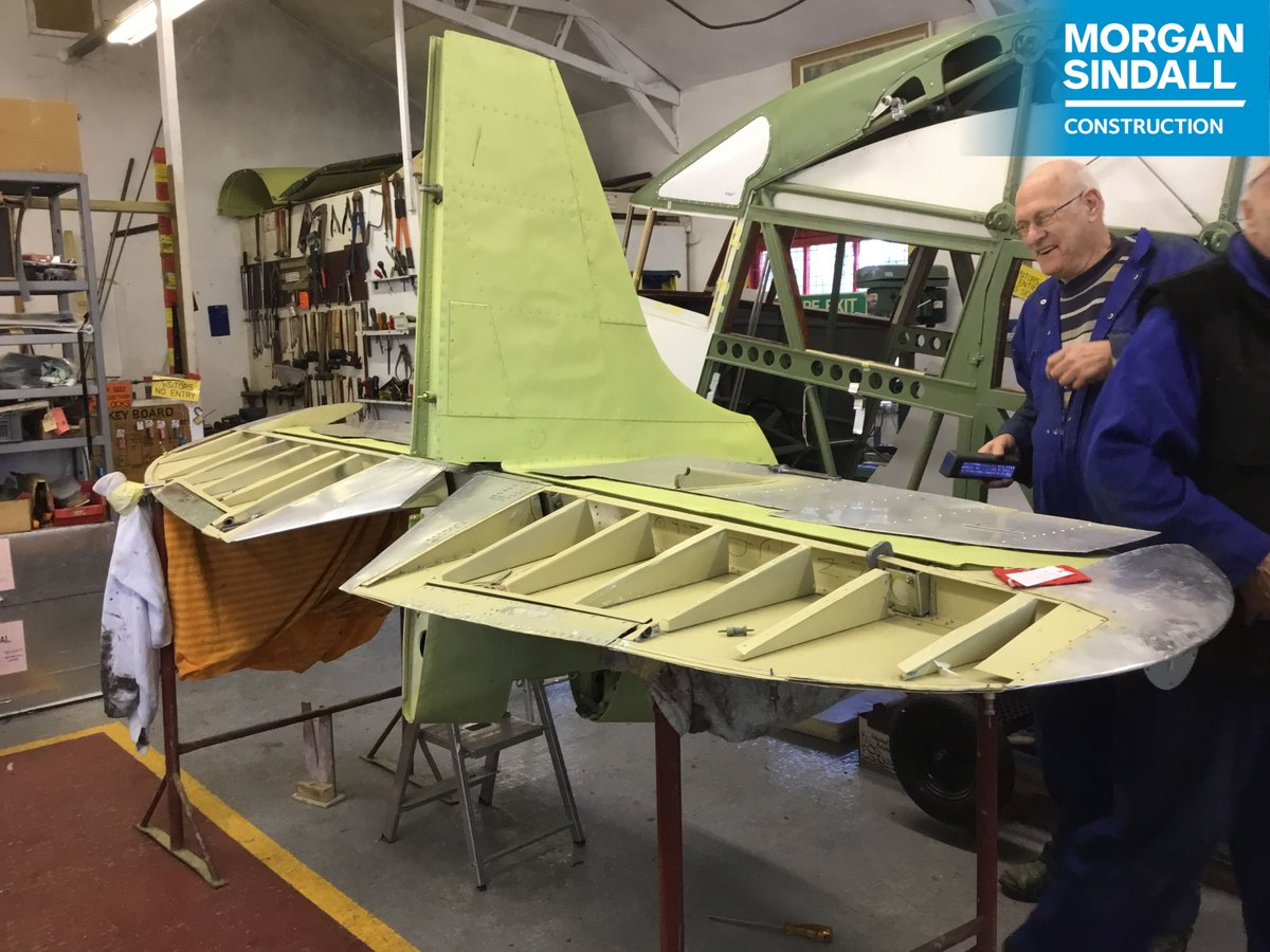 This Spitfire is being lovingly restored ready to take centre stage @PotteriesMuseum #Stoke - an extension project the #MorganSindallConstruction team are delivering for @Scape_Group #TeamScape