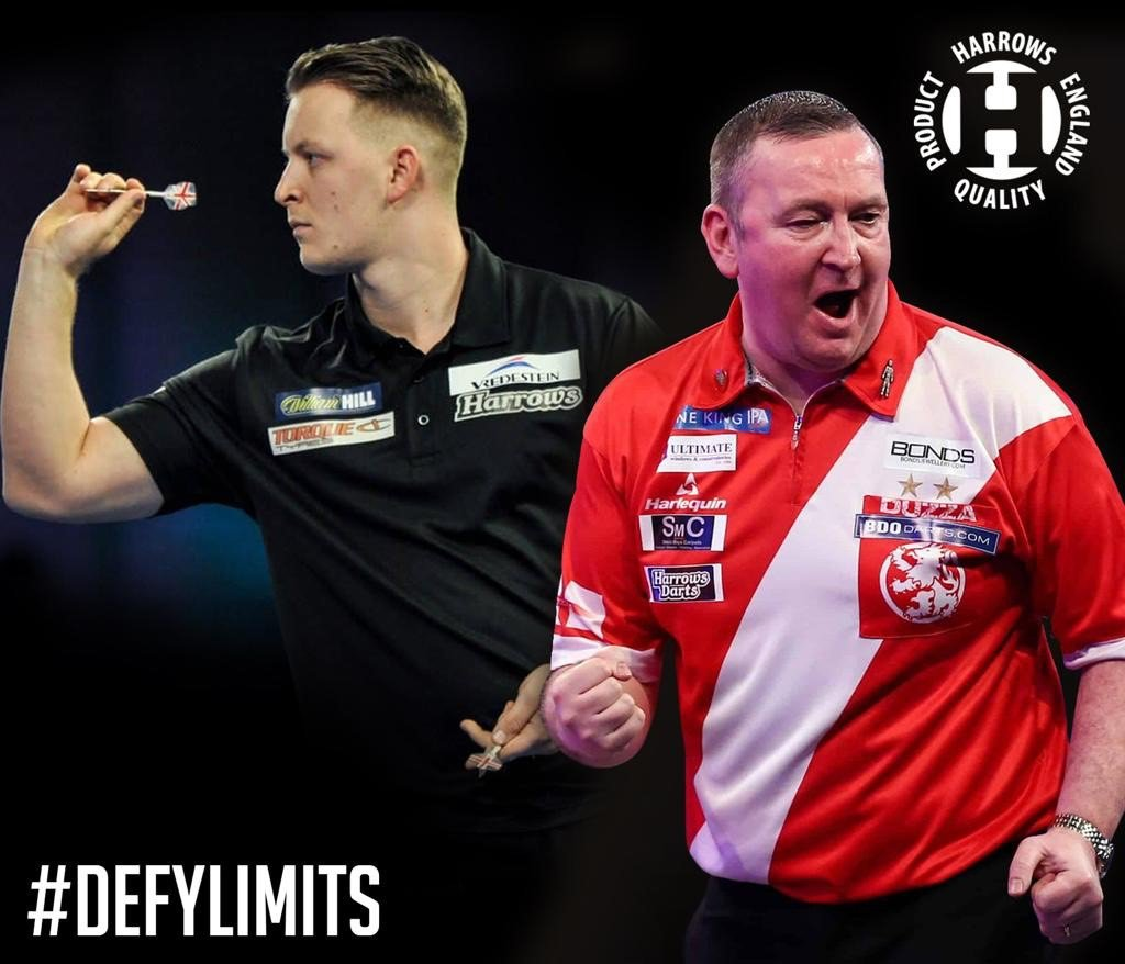 @OfficialPDC Pro Tour action resumes this weekend with a Players Championship double header and ET3 and ET4 qualifiers.   Harrowsmen @Joshpayne180 and @Duzza180 will be in action, looking to build on their good starts to the season #DefyLimits