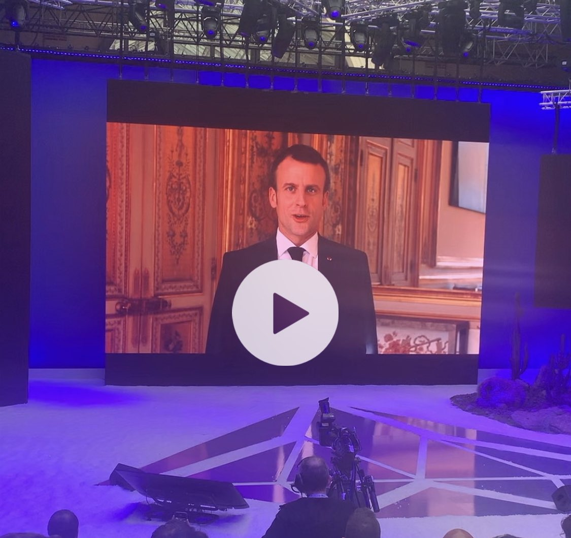 This just happened: @LaFrenchTech opened #HTSummit with a commercial inviting #talent from all over the world to choose France feat. this guy. Full video here https://youtu.be/KCJGC4j_FkM  #joinlafrenchtech