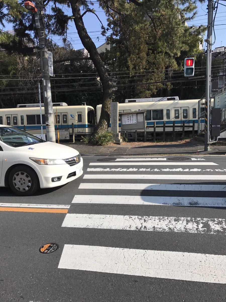 小田急小田原線の百合ケ丘駅の人身事故で電車が止まっている画像