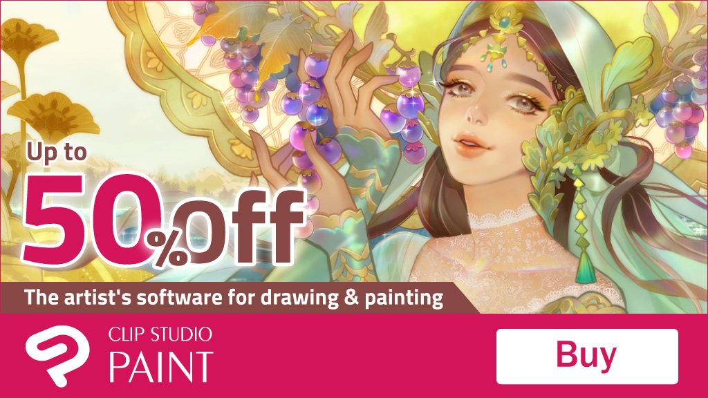 [Sparkling Sale] Up to 50% OFF Until March 19, 8:00 AM (UTC/GMT) Don't miss this chance! https://www.clipstudio.net/en/