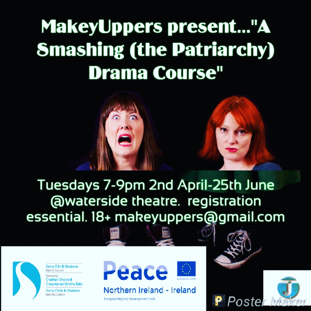FREE DRAMA COURSE 18+. All levels of experience. Rooted in Patriarchy training. Expression of interest form essential HERE: https://www.surveymonkey.co.uk/r/SQT5XTD closing date 31st March @watersidetheatr @Foylewomensinfo @NWCN01 @HolywellT #drama #Empowerment #newThings #SmashThePatriarchy