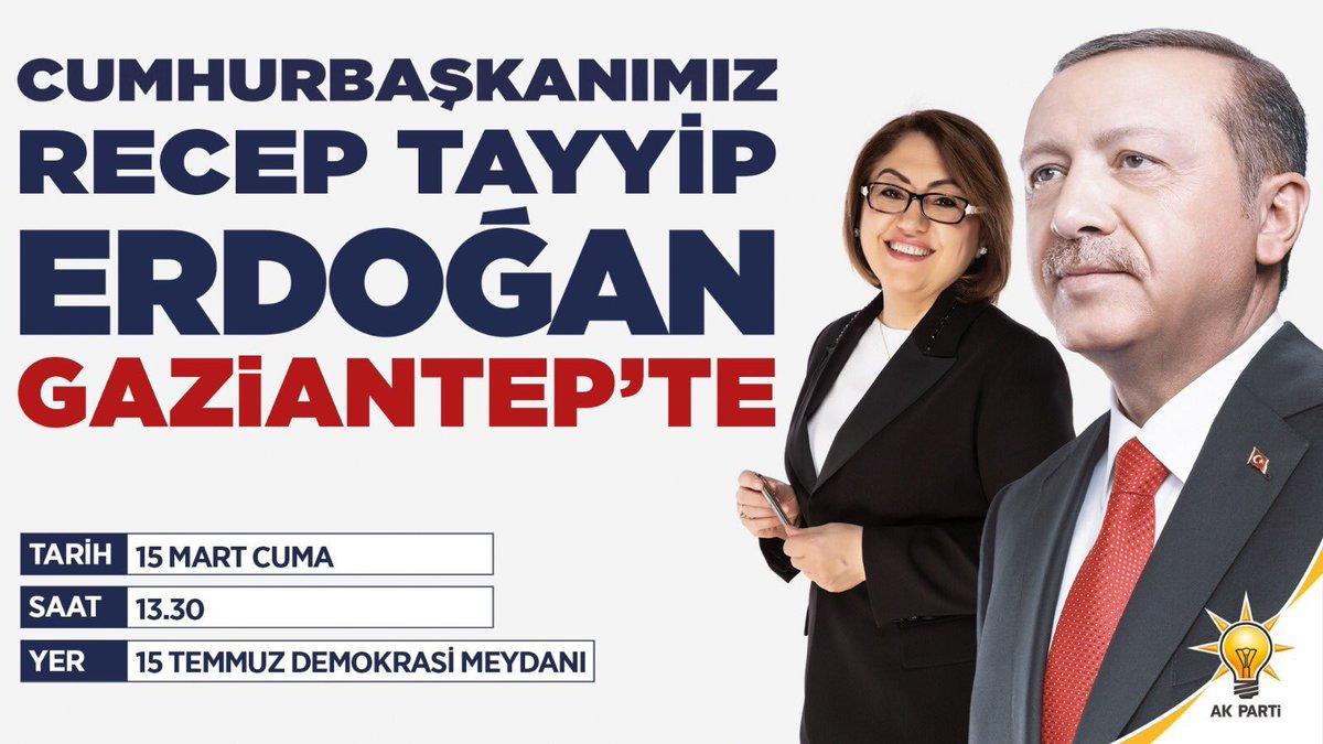 Haydi #Gaziantep, #Gazişehir göster kendini. Cumhurbaşkanımız geliyor. #Birlikle #Birlikte #YükselenGaziantep #YükselenTürkiye @FatmaSahin @RT_Erdogan
