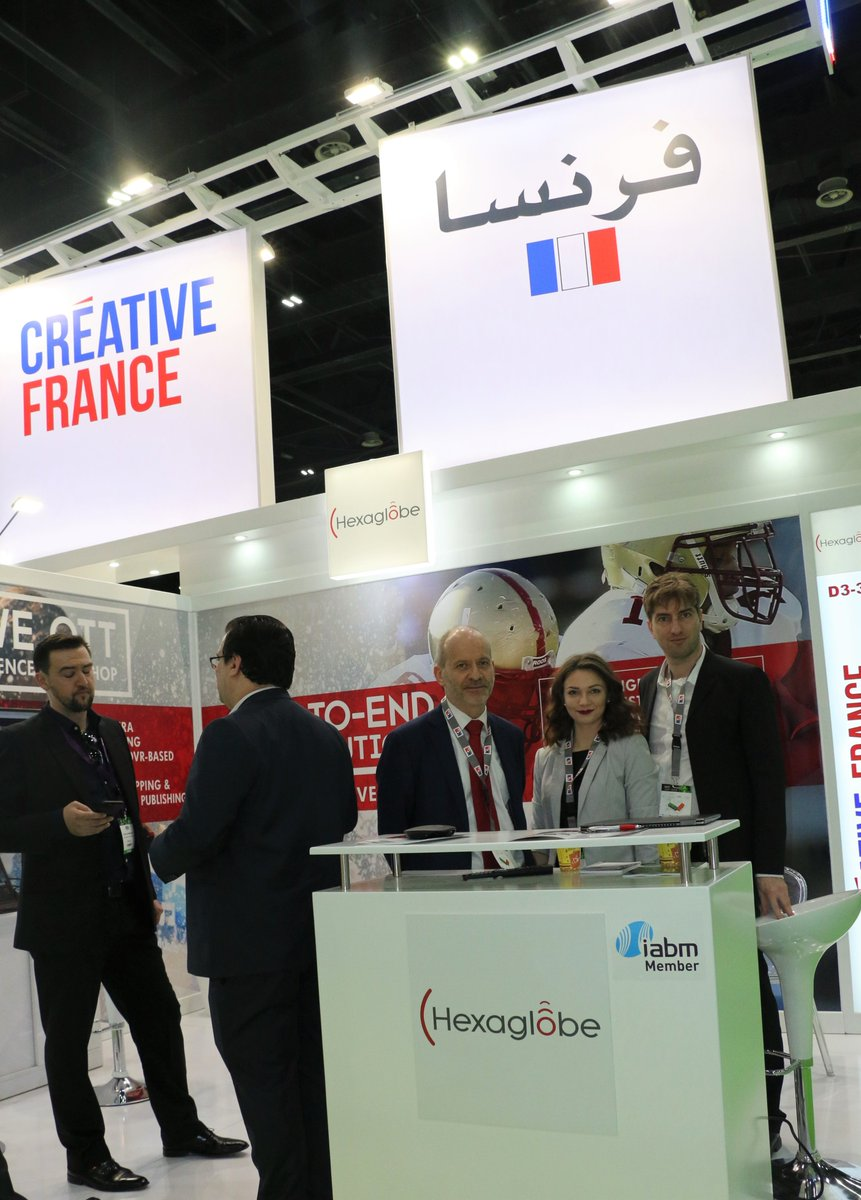 Meet the team @hexaglobe they offers end-to-end #OTT solutions for live and VOD streaming services, #MobileApps and social media distribution of broadcast content.  more info visit #FrenchPavilion D3-31 in hall 3 @CABSATofficial 2019 #InfoBF
