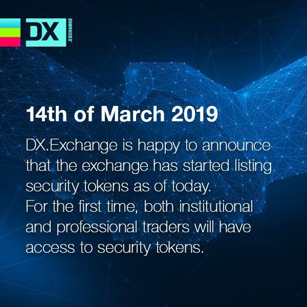 DX.Exchange จากเอสโตเนีย ให้บริการซื้อขาย Security Token