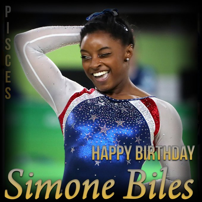 Happy Birthday to Simone Biles! The Olympian turns 22 years old today.