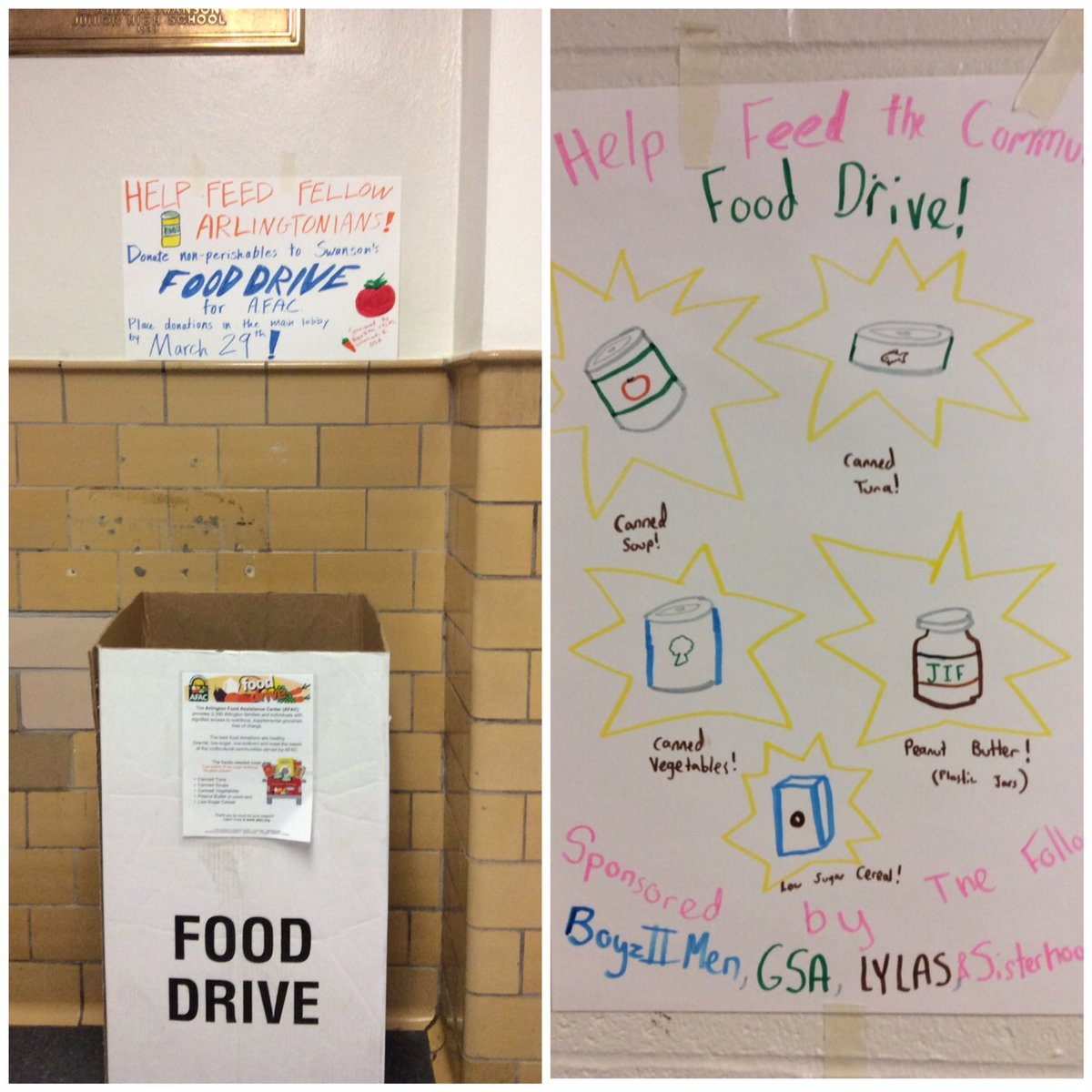 Please consider donating to our Food Drive! <a target='_blank' href='https://t.co/i0mLjNPLh4'>https://t.co/i0mLjNPLh4</a>