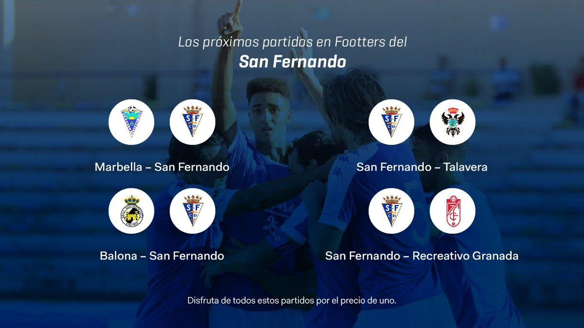 Por el precio de un partido, llévate estos cuatro encuentros del @SanFernando_CD 🔵⚪  Y aparte otros 30 partidos de los que semanalmente emitimos 🙌🏽  #LaPrórroga es molto longa 😂