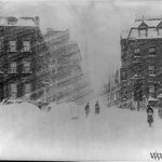 Image for the Tweet beginning: The Great Blizzard of 1888