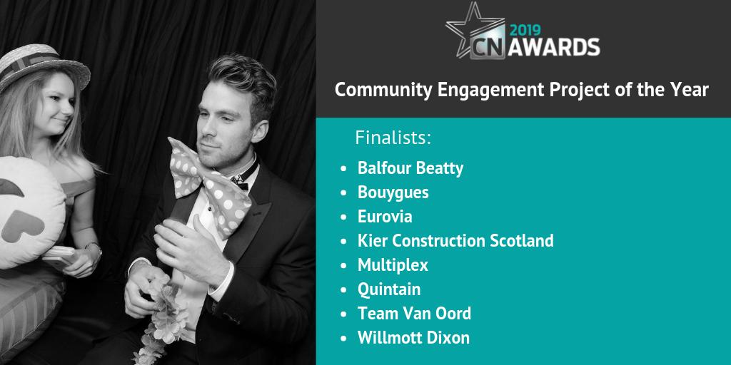 Next up we have the finalists for Community Engagement Project of the Year at the 2019 #CNAwards! Congratulations to the shortlisted companies. Check out the full shortlist here http://bit.ly/2019CNshortlist