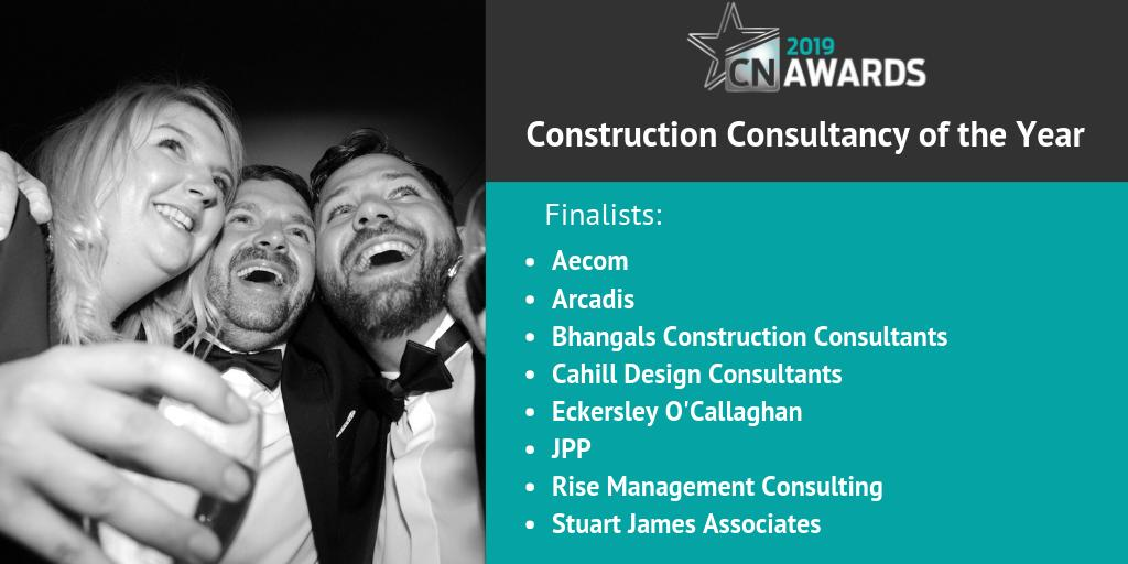 Well done to the companies shortlisted for the Construction Consultancy of the Year category at the 2019 #CNAwards! You can see the full shortlist here http://bit.ly/2019CNshortlist