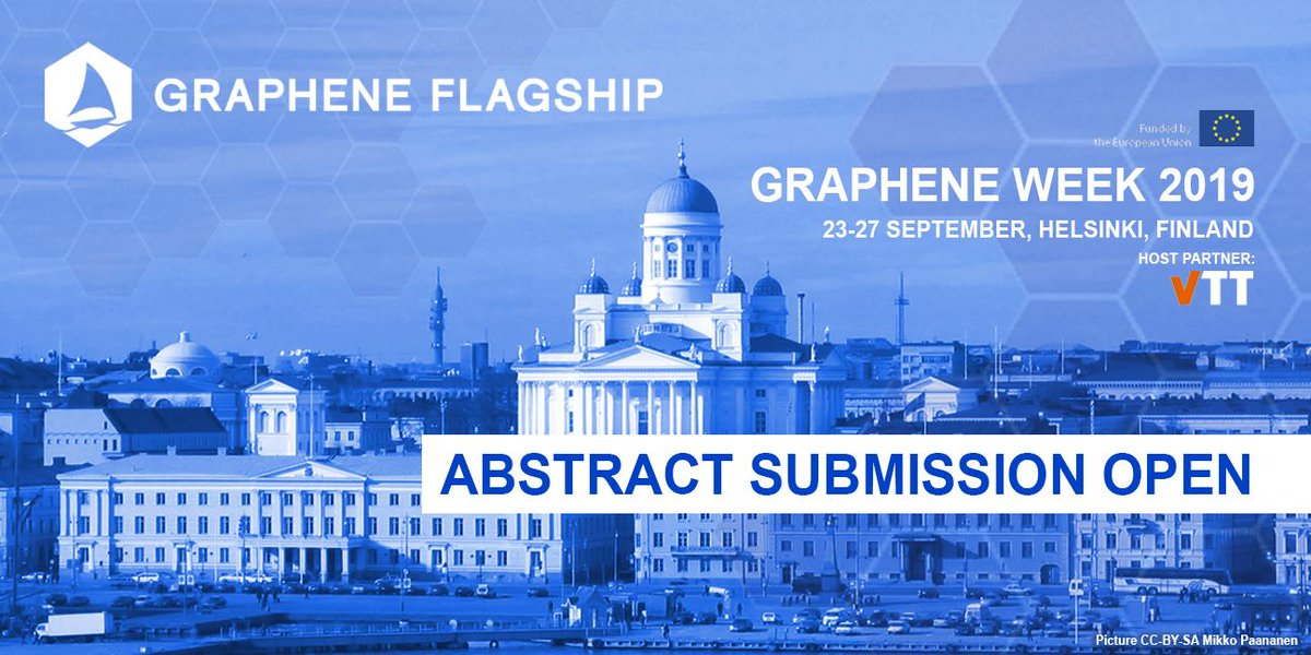 Excellent opportunity to participate in Europe´s Leading Graphene Conference! Come and have the opportunity to network with leading researchers in Graphene and Related Materials, from industry and academia! #Graphene #GrapheneWeek 2019, the annual conference of the @GrapheneCA