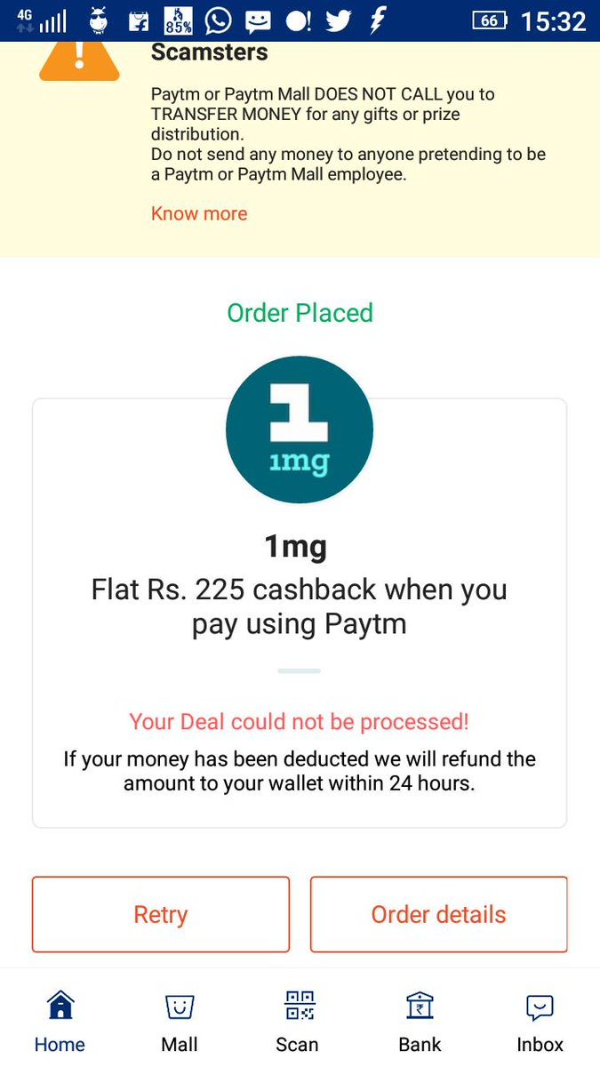 Will I get the 225 paytm bucks..? 👇👇 IF NOT.. I HAVE TO CANCEL THE ORDER.. CONTACT ME.
