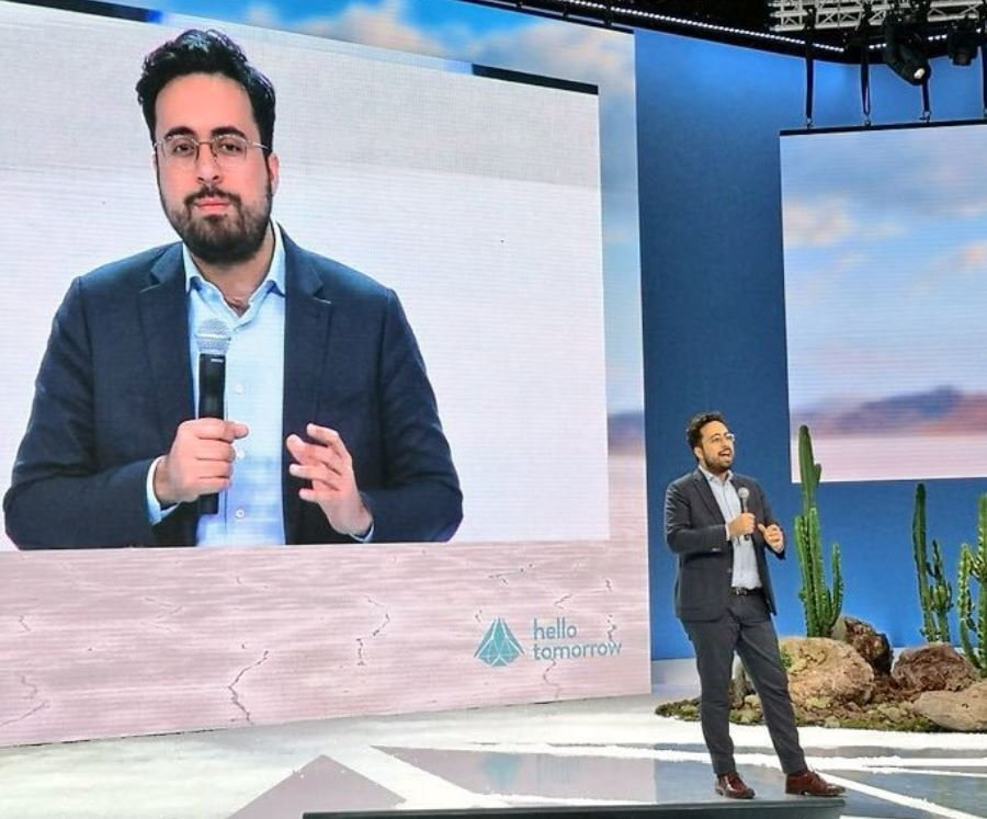 #HTSummit Secretary of State @mounir on stage @hellotmrc, talking about why #innovation is the future of 🇫🇷. From all other the world , talents, researchers or labs are welcome in #France. #JoinLaFrenchTech