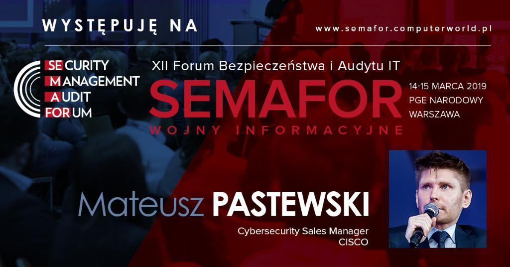 Dziś XII Forum Bezpieczeństwa i Audytu IT #SEMAFOR z @ComputerworldPL na @PGENarodowy >> Mateusz Pastewski tłumaczy jak wykryć malware w ruchu szyfrowanym bez konieczności odszyfrowywania  #security #Cisco #SEMAFOR https://t.co/0R5lU0vdsj