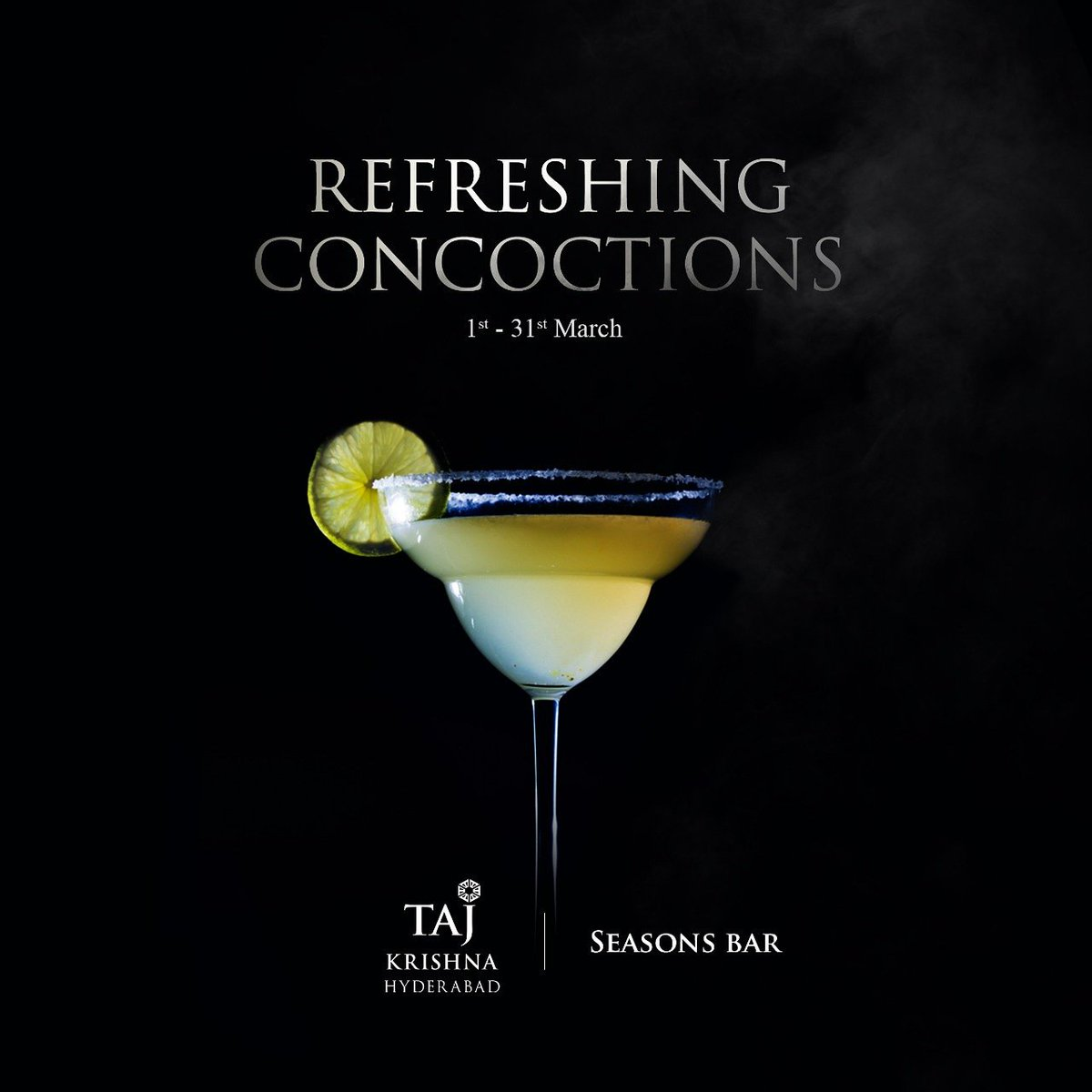 Refreshing Concoctions!  Treat yourself to plumpy infusions of Margaritas and Daiguiris at Seasons Bar. With whimsical aromas underscored by refreshing flavours, the cocktail menu is a blissful indulgence.  1st - 31st March Reservations: 040 6666 2323/ 6629 3328  #tajkrishna