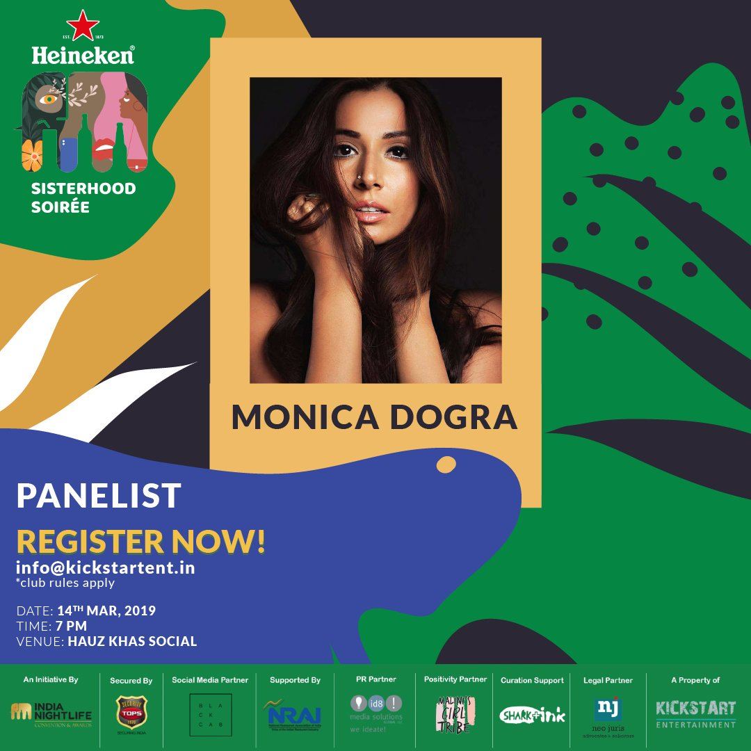 We can't wait to hear these lovely women talk about their nocturnal life and everything under the moon! Just a few more hours to go.. See you there!  #delhi #sisterhoodsoirée #heineken #heinekenindia