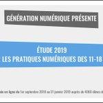 Image for the Tweet beginning: La nouvelle étude 2019 d'@assoGeNum