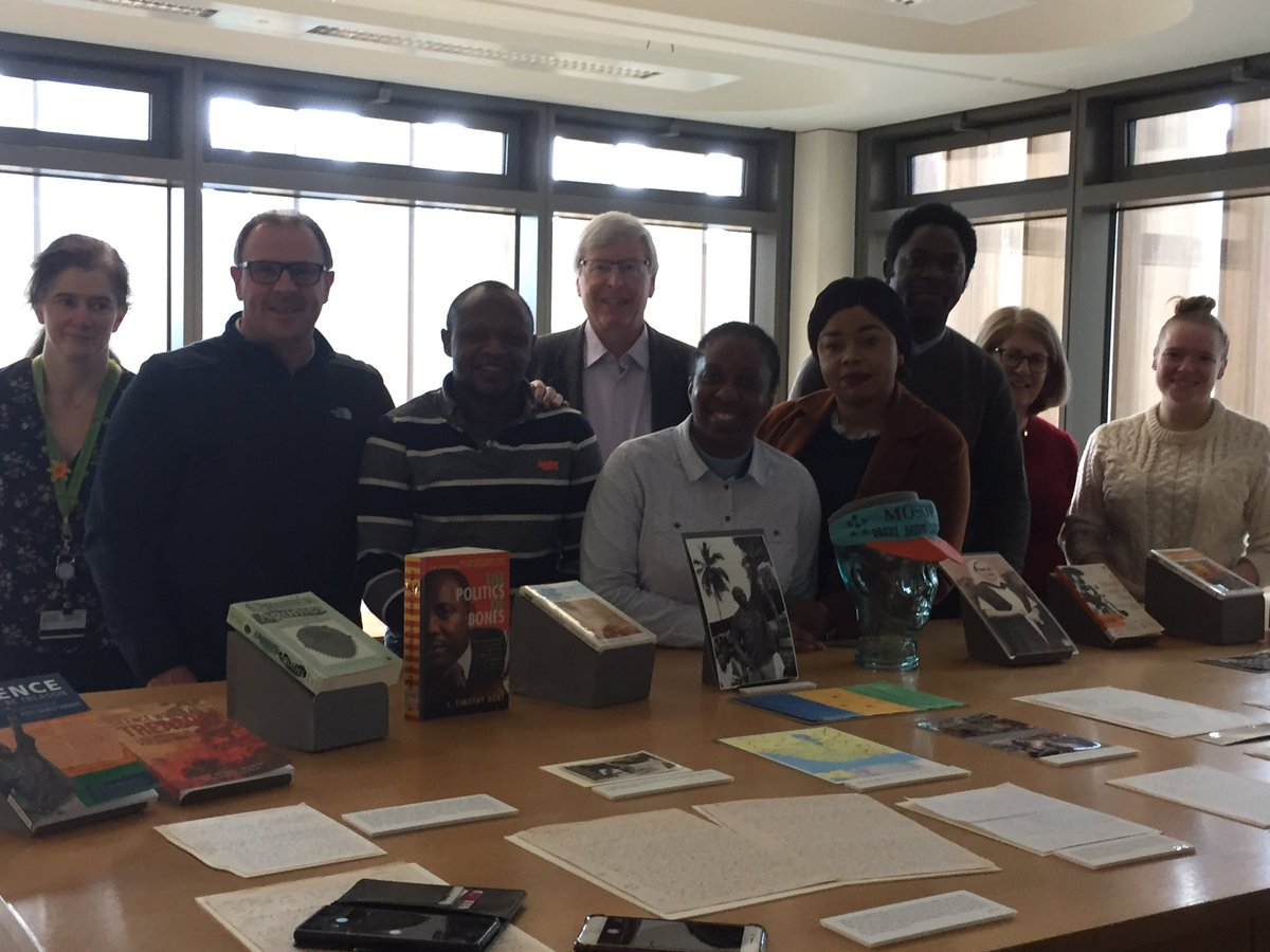 Students on Masters in international peacebulding and security @library_MU work on Ken Saro-Wiwa archive @CJarchivist pleaded to see this unique collection integrated into course work @ola