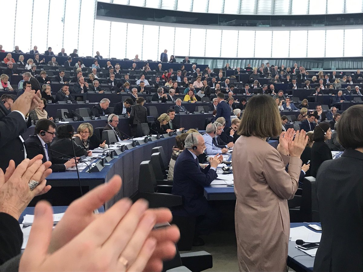 In Strasbourg @EPP MEPS refusing to stand in support of protest against the remarks of Antonio Tajani re Mussolini. The President of the Parliament. @FineGael is part of this group. When will they be asked questions about this and the Orbán issue by MSM??