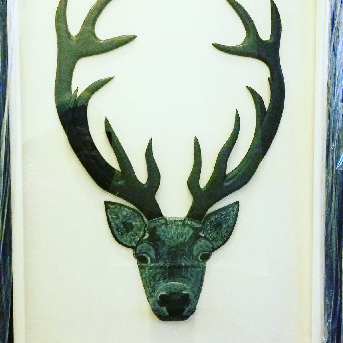 My deer! After two years of mentally giving shape to this wonderful work of art, finally Terry @LovingSlate has made it a reality! We love it! #ohdeer #artwithslate #talentedhands #talentedminds #creativepower @honisterdotcom @LiveShopLocal @LakeDistrictPR  @iamcountryside<br>http://pic.twitter.com/3gLtgNWunQ