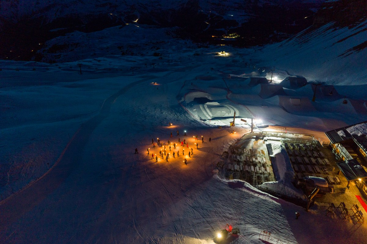 Soak in the magic of a torchlight procession on th...