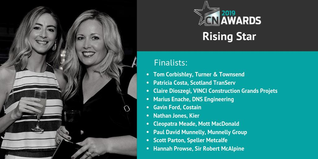 Well done to those shortlisted for Rising Star at the 2019 #CNAwards: Tom Corbishley, Patricia Costa, Claire Dioszegi, Marius Enache, Gavin Ford, Nathan Jones, Cleopatra Meade, Paul David Munnelly, Scott Parton and Hannah Prowse! The full shortlist: http://bit.ly/2019CNshortlist