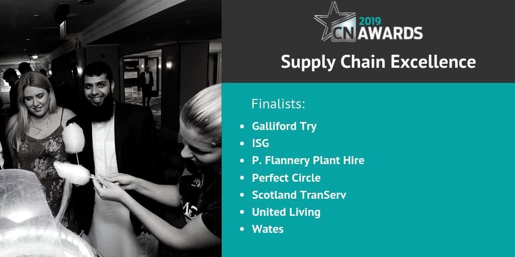Here is the shortlist for the Supply Chain Excellence category at the 2019 #CNAwards, congratulations to the following companies! See the full shortlist at http://bit.ly/2019CNshortlist