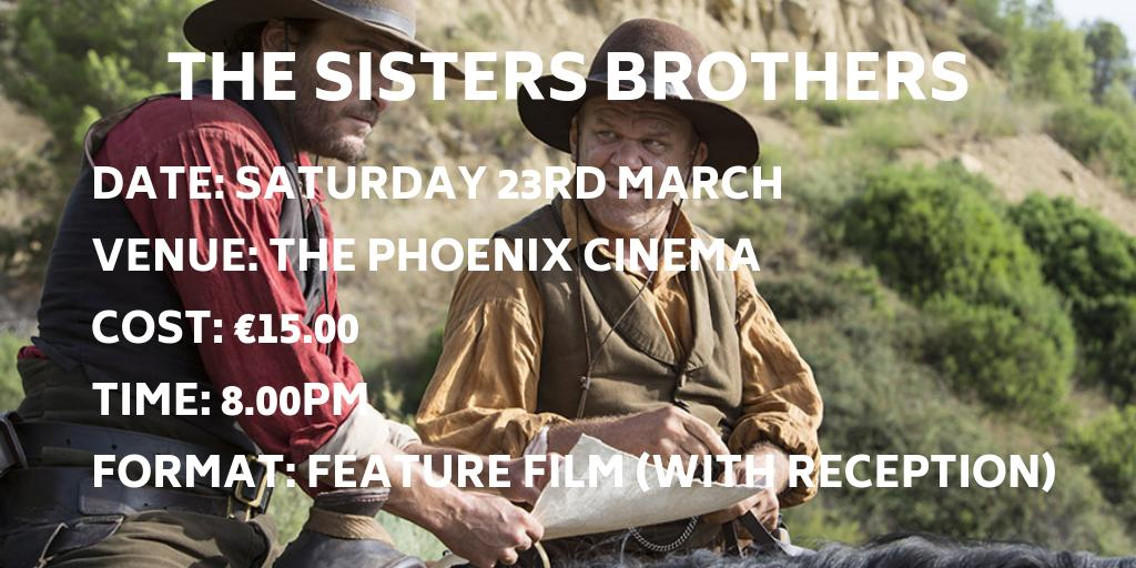 #TheSistersBrothers revolves around the colorfully named gold prospector Hermann Kermit Warm, who's being pursued across 1000 miles of 1850s Oregon desert to #SanFrancisco by the notorious assassins Eli and Charlie Sisters http://dinglefilmfestival.com/?film=the-sisters-brothers… #DingleIFF