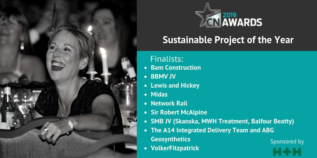 Amazing job to the companies shortlisted for Sustainable Project of the Year (sponsored by @CelconBlocks) at the 2019 #CNAwards! Check out the full shortlist for all the categories at http://bit.ly/2019CNshortlist