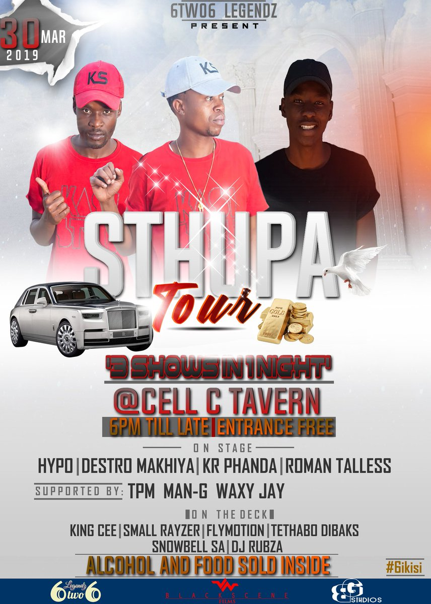 "2ND Stop for #SthupaTour🚍📸🎥🎤   ""3 Shows in 1 Night""❤  is @CELL C Tarven only 12 Seats Avail from the 22 setter Iveco hired, Book yours now!"