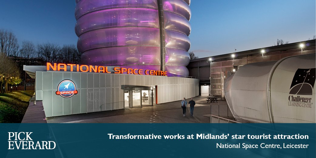 The first stage of transformative works at the @spacecentre has been completed with a new entrance foyer at the base of a 140ft rocket tower http://ow.ly/YWf430o2AWG  @WoodheadGroup @Scape_Group