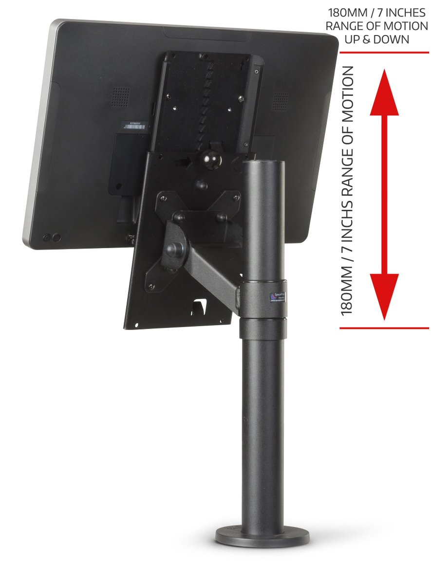 test Twitter Media - A #POS screen that's adjusted to various heights reduces workplace injury, staff absenteeism & turnover. For an ergonomic & flexible POS install to a new or retrofit to an existing workstation the #SpacePole Height Adjustable VESA Screen Mount WATCH VIDEO https://t.co/coDiNQVnwe https://t.co/2hY2LrH5TI