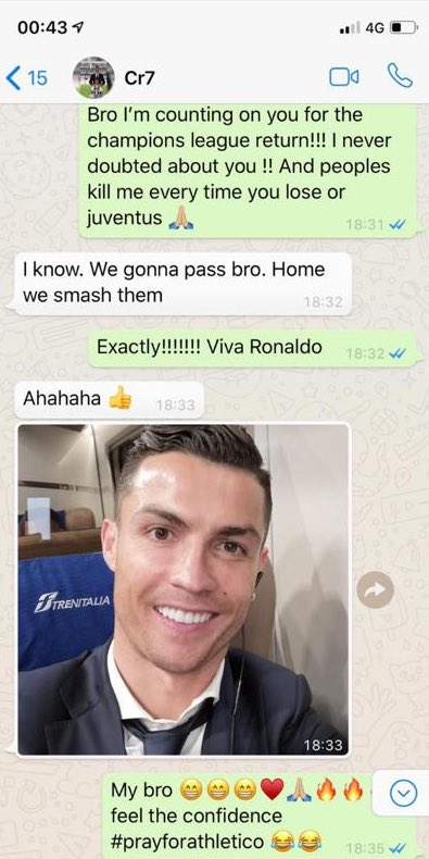 The only person in the world that can take the pressure and be the best player in the world like Michael Jordan is @Cristiano Ronaldo. Don't try to tap the screen for his number. 😂😂😂