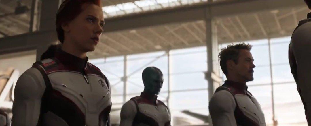 Viúva Negra. Nebula e Tony Stark Uniformes Quânticos - Vingadores: Ultimato