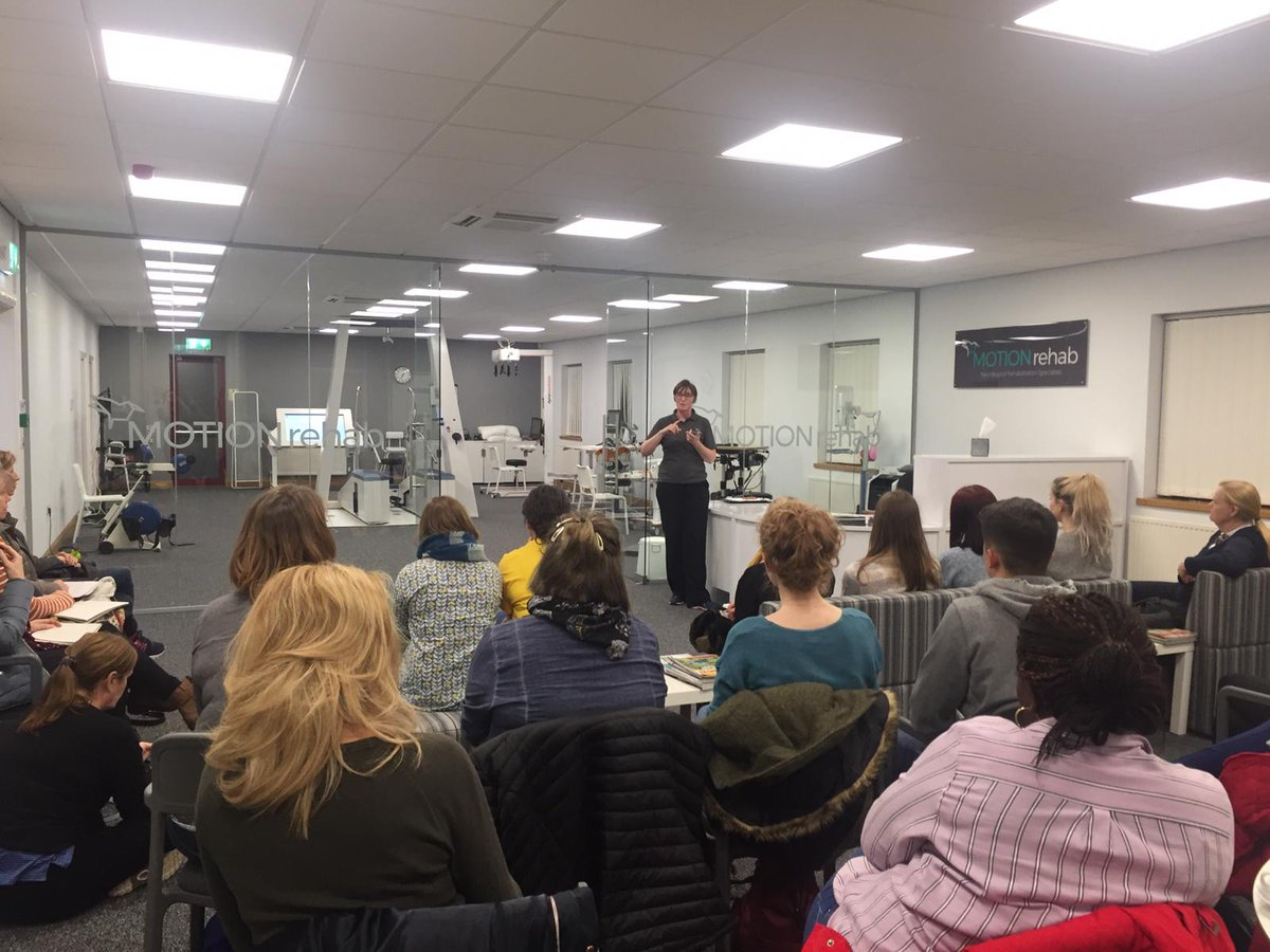 MOTIONrehab was delighted to host @AcpinYorkshire lecture on 'Advances in Neurotechnology' to over 30 physiotherapists who were also given the opportunity to hear the latest research & gain some hands-on experience with the devices from @tyromotion & THERA http://ow.ly/1nSj30o2CXw