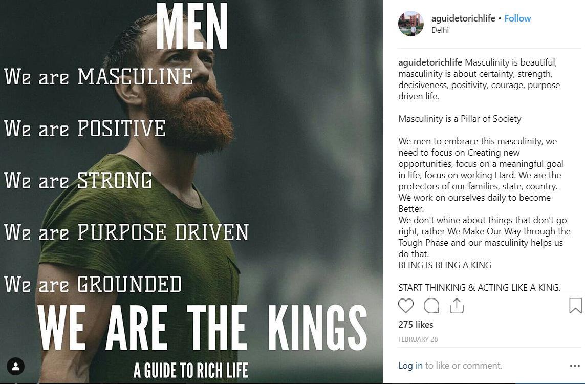 @guidetorichlife #men #masculinity #postivemasculinity #man #strong #stoic #male #AlphaMaleMentality #alphamale @RationalMale #positive #king #aguidetorichlife #vishal #vishaljain #Instagram #purpose #masculine #groundedpic.twitter.com/7TPVJbquxR