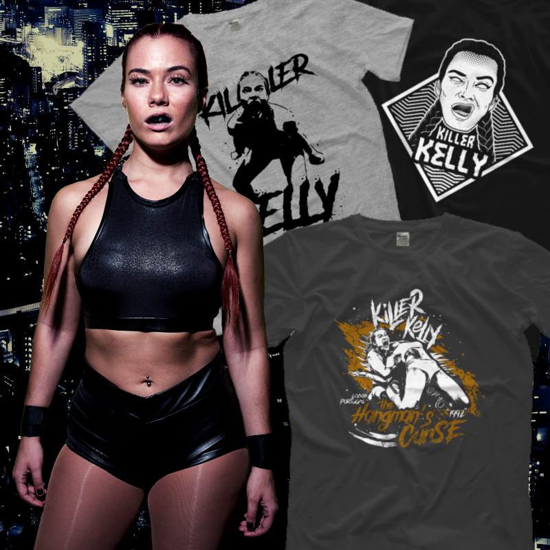 M E R C H  |  P R O W R E S T L I N G T E E S It's official! My tshirts, old and new designs, are finally available on @OneHourTees Check out my page | https://www.prowrestlingtees.com/killerkelly