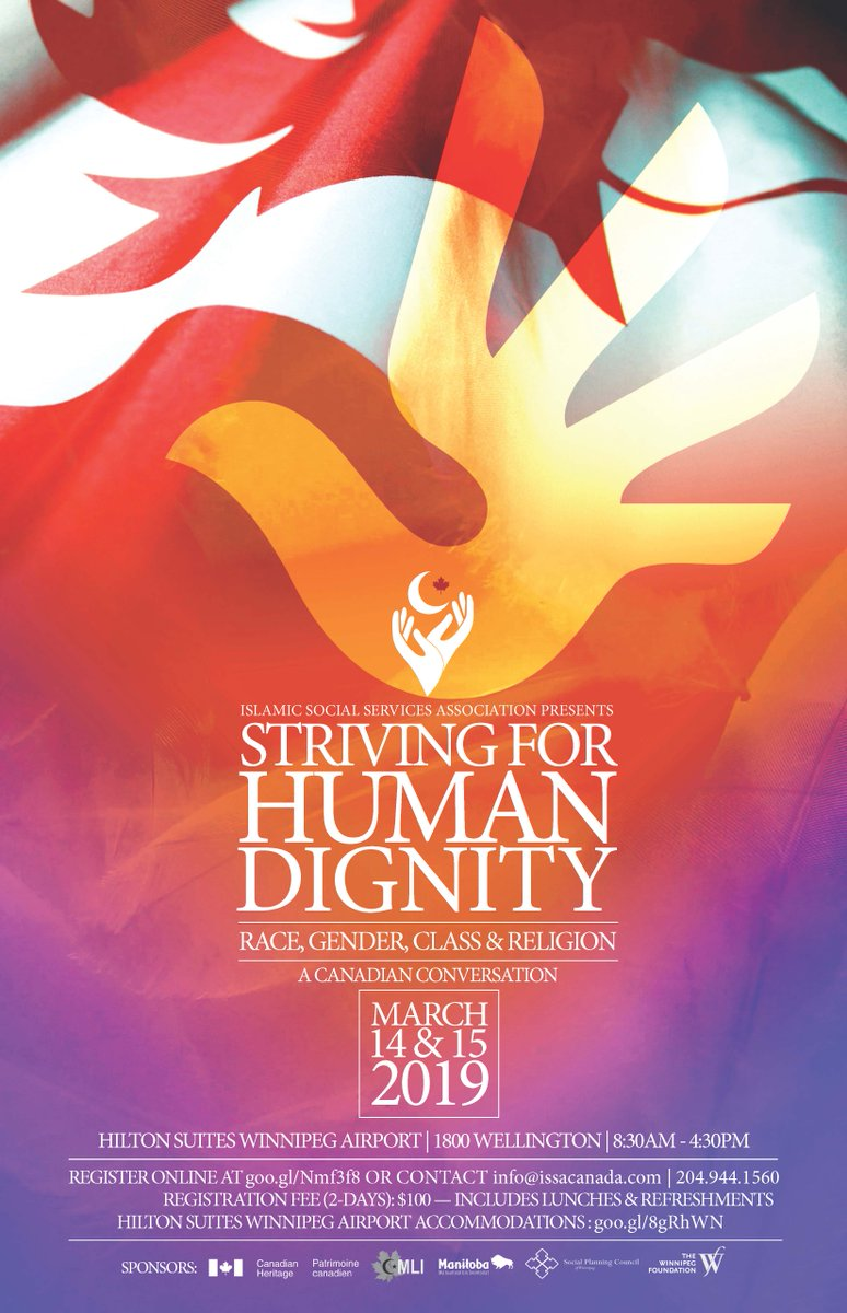 """Be part of the conversation at """"Striving for Human Dignity."""" Wishing all participants a productive conference in Winnipeg! http://www.issacanada.com/"""
