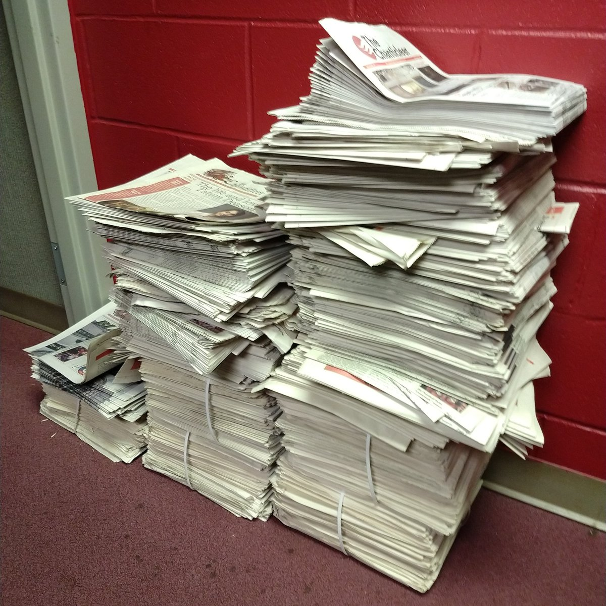 If you don't pick up an issue of The Chanticleer today, our office might get even messier! Do the right thing, JSU!  #ChantyDay