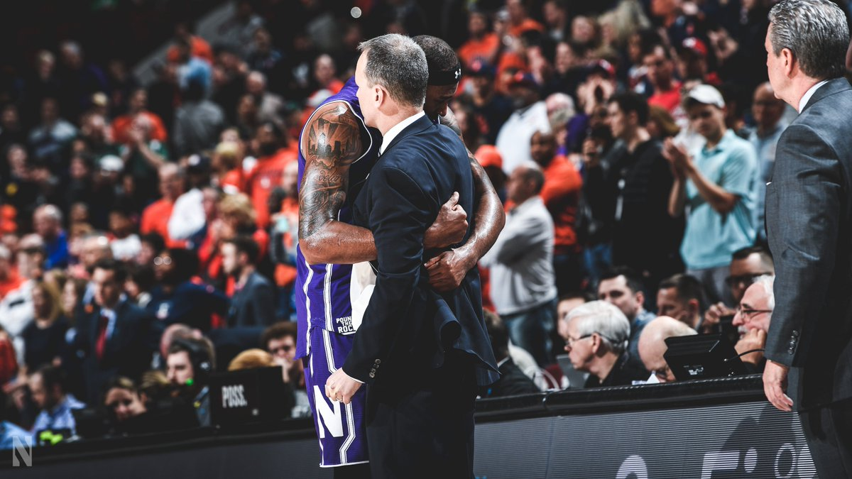 """""""To go through those experiences with my teammates, I wouldn't give it up for the world. I want to say thank you to Northwestern and Coach Collins who gave me a chance to come here and prove what I can do."""" — @dererk5   #B1GCats   #PoundTheRock"""