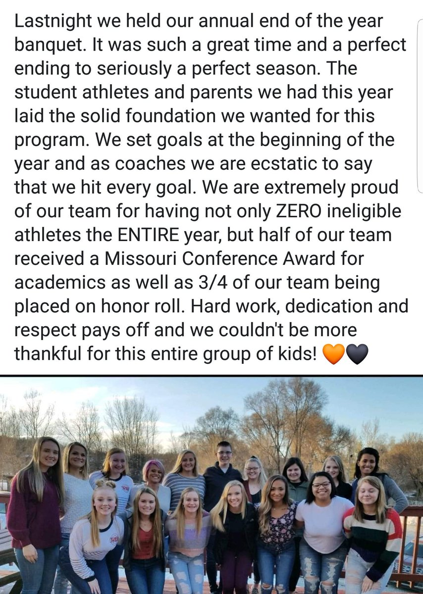 Such a great year with amazing student athletes 🧡🖤