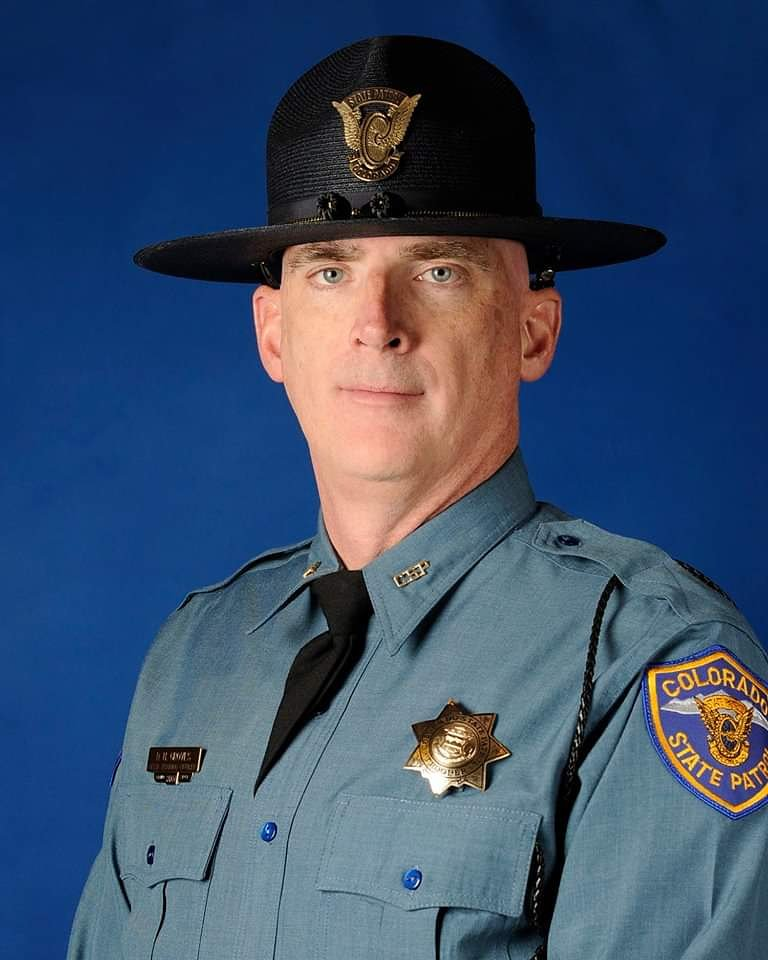 Today, our thoughts and prayers are with family and friends of Colorado State Patrol Corporal Daniel Groves, who was struck and killed by a vehicle while assisting another driver during a snowstorm.   Godspeed brother.   #GoneButNeverForgotten  @CSP_News<br>http://pic.twitter.com/tP3vH7dutc