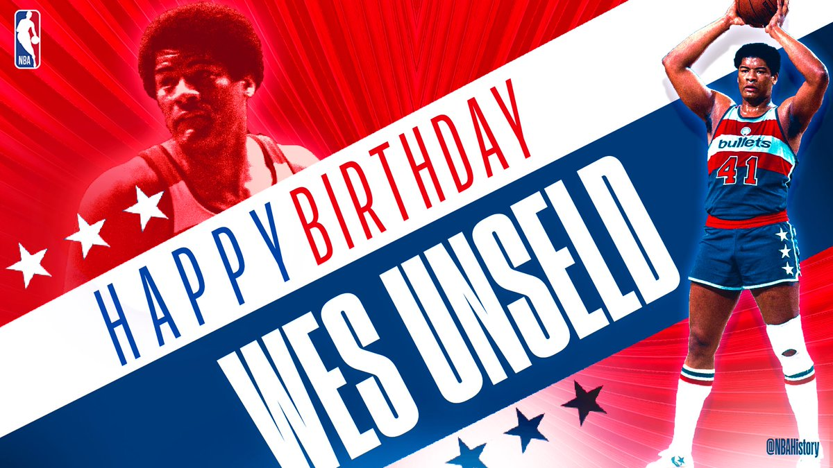 Join us in wishing 5x #NBAAllStar, '68-69 NBA MVP, '78 #NBAFinals MVP and champion Wes Unseld a Happy 73rd Birthday! #NBABDAY