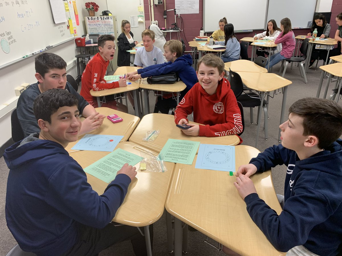 Pi Day at BMS Station!! First hour students enjoying playing a game of Mono-PI-ly and practicing circle calculations to win Colts Cash!! #stationnationTFLG #PiDay2019 #BSD220 #bms220 #MathFun<br>http://pic.twitter.com/yetrOCtdjC