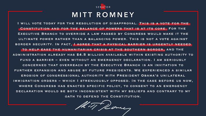 My statement on today's emergency declaration vote→