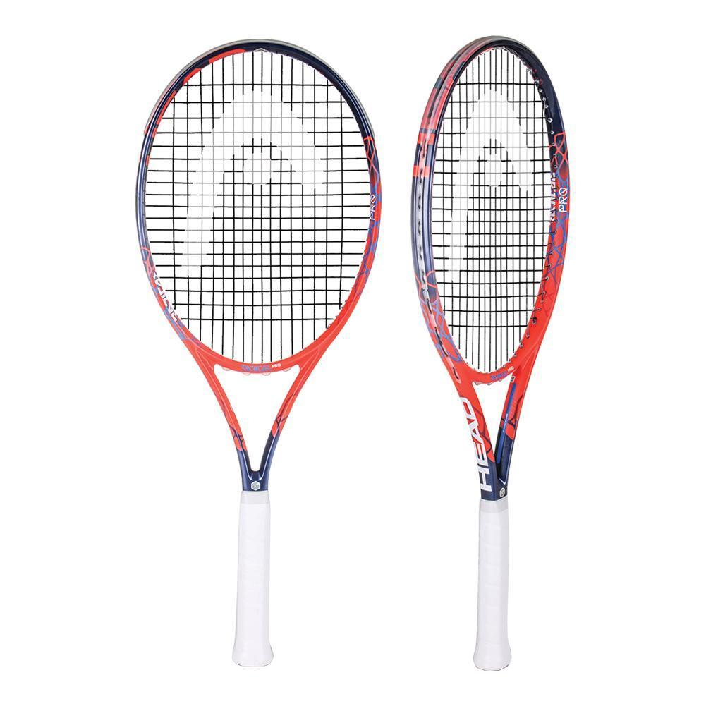Head Graphene touch radical pro. I just got one of these to play tennis and I gotta say, it&#39;s heavy as hell. Gives more power though. Turns out #AndyMurray and @DjokerNole use it. I had no idea. Tennis is harder than it looks. #tennis  @Malaka_R<br>http://pic.twitter.com/sm6kg5qrXI