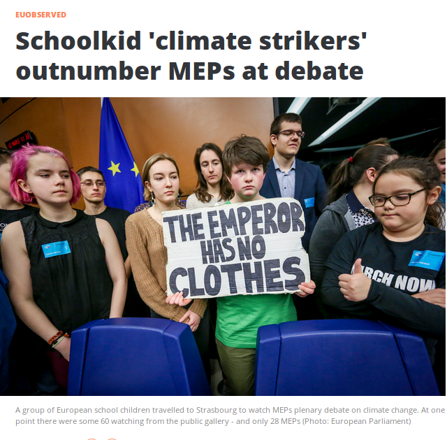 Similar to the recent debate in the parliament at Westminster.  So that's 751 - 28 = 723 MEPs who should be accounting for themselves. Some of them must have good reasons, but not all.  Great picture from....  https://euobserver.com/environment/144395…  #ClimateStrike