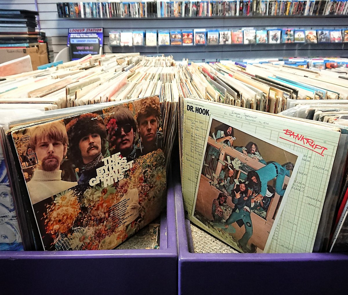 Vinyl bins are being refilled today!  #Vinyl #UsedVinyl #Records #UsedRecords #TheByrds #DrHook<br>http://pic.twitter.com/13YvnyB5va