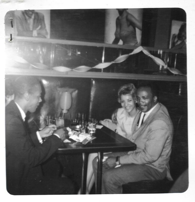 Happy birthday to Quincy Jones (b. 1933), here in a booth at the Palm Tavern  on 47th Street (photo Gerri Oliver)